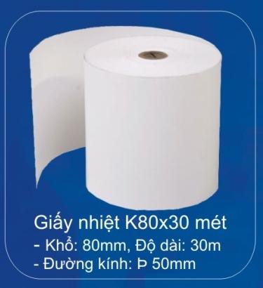 Giấy in hoá đơn K80 (100 cuộn/ thùng)