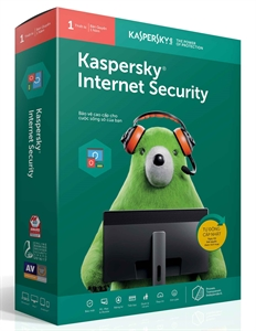 Phần mềm diệt virus Kaspersky Internet security (1PC/12T)